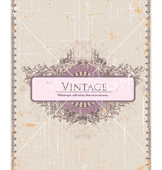Free vintage frame with floral vector - Free vector #227897
