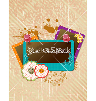 Free frame with grunge vector - Free vector #228147