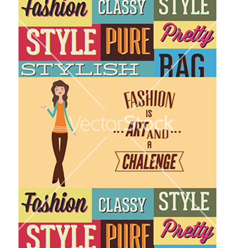 Free with fashion elements vector - Kostenloses vector #228257