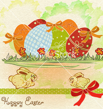 Free easter background vector - Free vector #228407