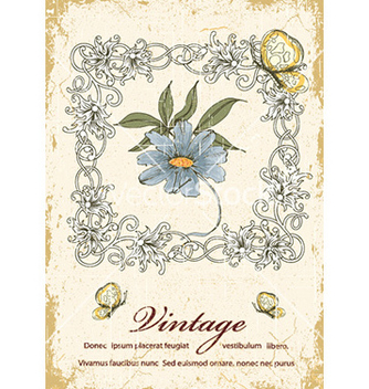Free grunge floral frame vector - Free vector #228437