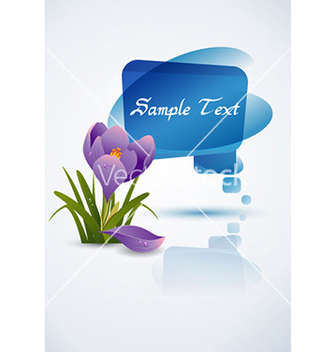 Free spring frame with floral vector - Kostenloses vector #228647
