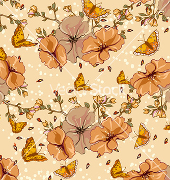 Free seamless floral background vector - Free vector #228827