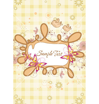 Free frame with butterflies vector - Free vector #229177