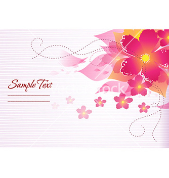 Free colorful abstract floral vector - Free vector #229187
