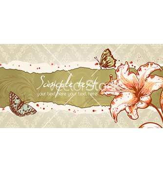 Free vintage floral background vector - vector #229557 gratis
