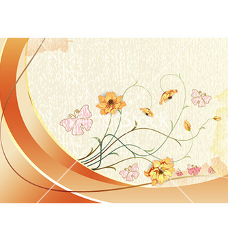 Free watercolor floral background vector - Free vector #229857