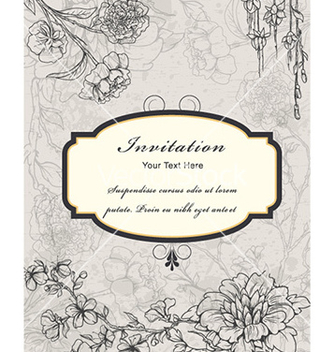 Free vintage floral frame vector - Kostenloses vector #230587