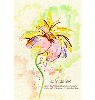 Free watercolor floral background vector - Free vector #230907