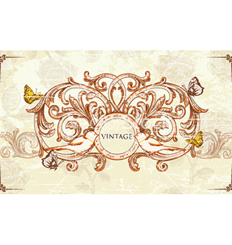 Free vintage frame vector - Free vector #231077