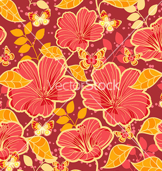 Free seamless floral background vector - Free vector #231217