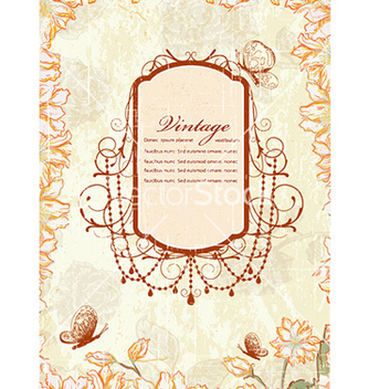 Free frame with floral vector - Kostenloses vector #231267