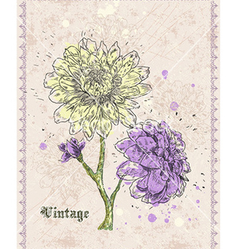 Free vintage floral background vector - Free vector #232127