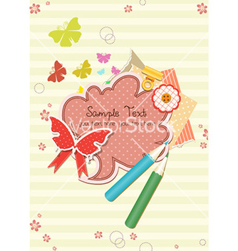 Free vintage scrapbook elements vector - Free vector #232177
