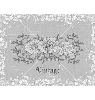 Free vintage background with floral vector - vector #232407 gratis