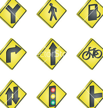 Free set of road signs vector - Free vector #232797