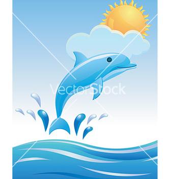 Free dolphin design vector - Free vector #232957