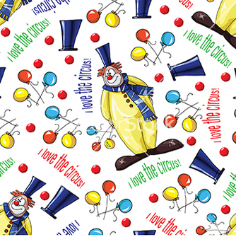 Free pattern with clowns and balloons vector - vector #233017 gratis