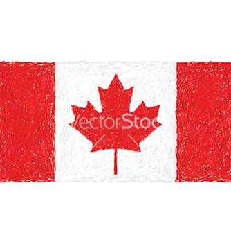 Free hand drawn of flag of canada vector - Free vector #233327