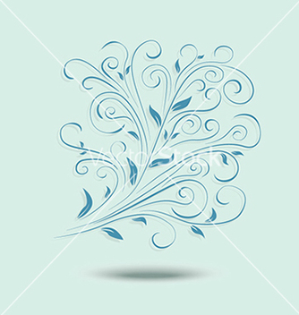 Free floral design element ornamental background vector - Free vector #233417