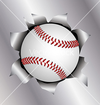 Free baseball thru metal sheet vector - Free vector #233437