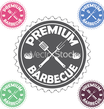 Free barbecue label stamp design element with text vector - Free vector #233547