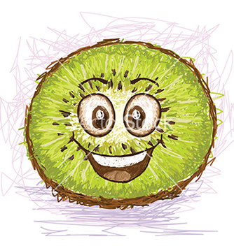 Free happy kiwi vector - Free vector #233597