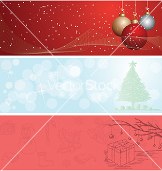 Free christmas banner vector - Free vector #233607