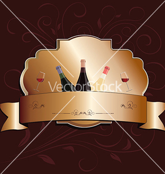 Free golden wine label design element vector - Kostenloses vector #233647