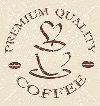 Free quality coffee label stamp design element vector - Free vector #233677