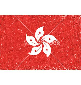 Free hand drawn of flag of hong kong vector - Free vector #233687