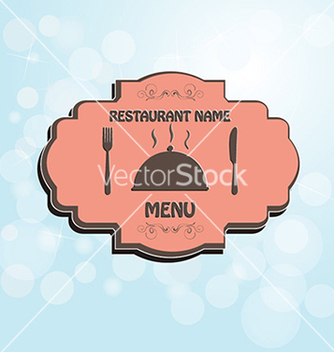 Free restaurant menu label brochure design element with vector - Free vector #233737
