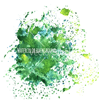 Free watercolor background with splashes vector - Free vector #233947