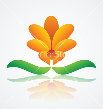 Free abstract flower design vector - Free vector #234047