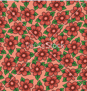 Free pattern with flowers on an orange background vector - Kostenloses vector #234097