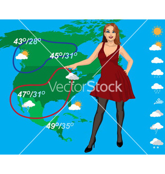 Free weather forecast vector - Free vector #234157