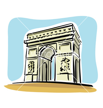 Free paris arc de triomphe vector - бесплатный vector #234197