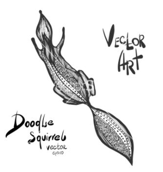Free doodle squirrel vector - Free vector #234267
