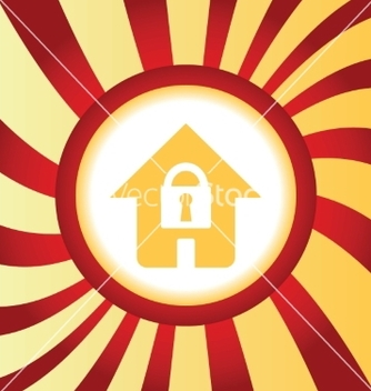 Free locked house abstract icon vector - Free vector #234477