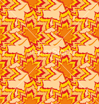 Free autumn seamless pattern with orange leaf vector - Free vector #234497