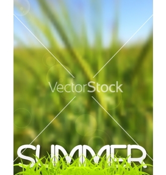 Free abstract green blurred summer background vector - Kostenloses vector #234527