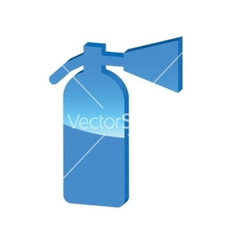 Free fire extinguisher blue 3d icon vector - Kostenloses vector #234547