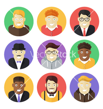 Free male persons icons vector - Free vector #234767