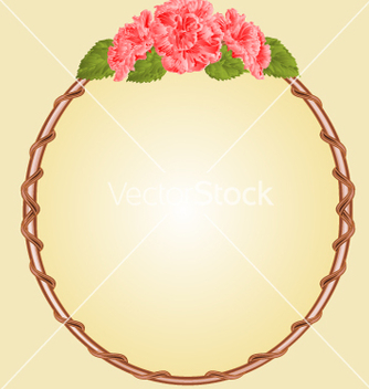 Free round frame with pink hibiscus greeting card vector - Free vector #234867