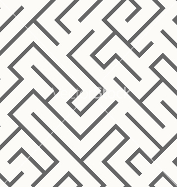 Free seamless labyrinth pattern vector - Free vector #234877