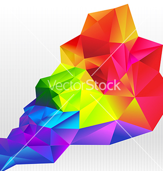 Free abstract background colorful triangle polygonal vector - Free vector #234977