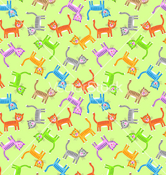 Free color cats pattern vector - Free vector #235057