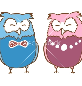 Free a couple of owls vector - Free vector #235097