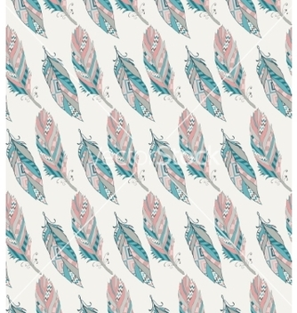 Free hand drawn pattern with tribal feathers vector - Kostenloses vector #235217