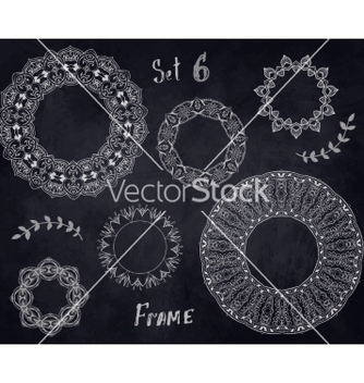 Free set hand drawn elements frame vector - Kostenloses vector #235307